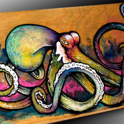 Salad Shooter Octopus Skateboard