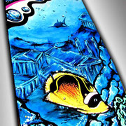 Liquid Skies Tropical Fish Skateboard