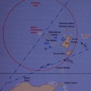 """""""Kick´em Jenny"""" heißt das Seegebiet und die kleine Insel ( die immer Ärger macht )"""