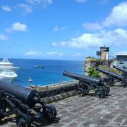 Vom Fort St.George hat man einen guten Überblick