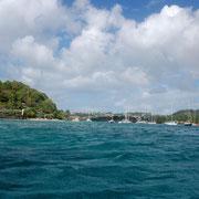 Ankerfeld zwischen Young-Island und Paradise-Beach