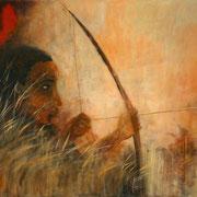 Jäger und Gejagter - 90x120 cm - Acryl auf Leinwand