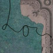 Serie - Timelines Nr. III - 15,5x9,5 cm - antikes Papier, Nähgarn auf Karton