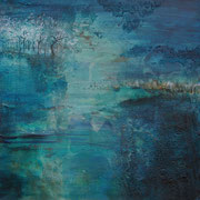 Landscape blue II  40x40 cm- Acryl auf Leinwand