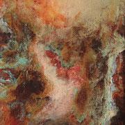 Lichtblick II - 31x25 cm - Rost,Kupfer,Acryl auf Leinwand