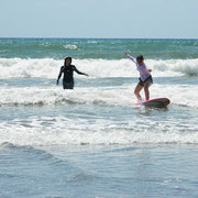 初めてで少し波も荒かったですが、ちゃんと立ててました!