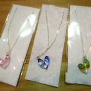 Glass heartのネックレス2,000yen