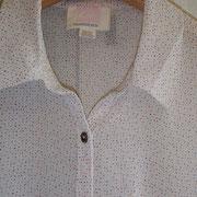 透け感のある細かいドットのシャツ