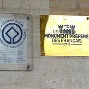 Plaques UNESCO et Monument préféré des Français / Photo JH