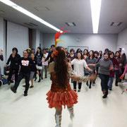 サンバドラムチームGSGが教えるダンスワークショップ