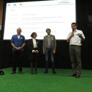 v.l. Martin Büeler (WV Rapperswil-Jona), Sabina Häny (Häny AG), Massimo Wild (Wild Armaturen AG) und Konrad Schmid (Präsident SBV)