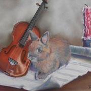 Canel musicien - Pastel sec sur pastelmat