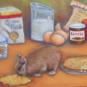 Canel fête les crêpes - Pastel sec sur pastelmat