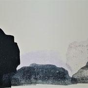 Halong Bay III, 2020, Holzschnitt, 20 x 40 cm