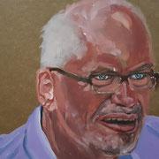 Jeder Mensch ist ein Kunstwerk - Uwe, 2021, Acryl auf Abdeckpapier, 21,5 x 30 cm