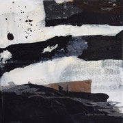 Ohne Titel, Mixed Media auf Leinwand, 30x30, Regina Wuschek