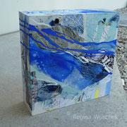 Mixed Media auf Casani, 30x30x9, Regina Wuschek