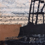 Ohne Titel, Mixed Media auf Holzkörper, 20x20, Regina Wuschek