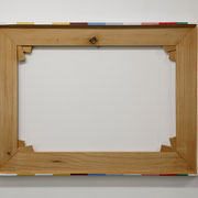 JumpCut03 (frame), 2014 60x80x4.5cm wood, canvas, staples, acrylics