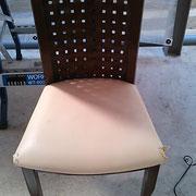 椅子の座面の部分リペア