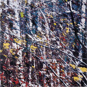 q14, Décalcage auf Holz, 120 cm x 120 cm, 2008