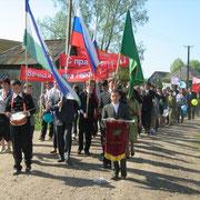 Ежегодно на 9 мая учащиеся и учителя лицея проводят шествие по улицам села в честь Дня Победы