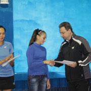 Награждение Кондратенко Виктории, победительницы турнира среди девушек