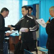 Награждение Носач  Андрея занявшего 2 место в Категории рейтинг 0-20