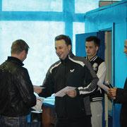 Награждение Ткаченко Владимира занявшего 2 место в Категории рейтинг 20-40
