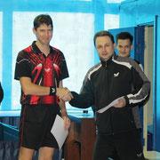 Награждение Кошкодан Игоря занявшего 3 место в Категории рейтинг 20-40