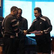 Награждение Терещенко Александра занявшего 3 место в Категории рейтинг 0-20