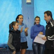 Награждение Евы Каплун, занявшей 3 место среди девушек