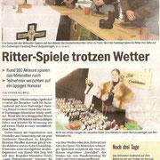 Ritter-Spiele im Schnee, Furtwangen/Baden-Württemberg Mai 2010
