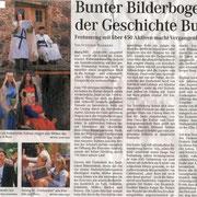 Mitteldeutsche Zeitung vom 23.06.2008, Stadtjubiläum Buro, Sachsen-Anhalt