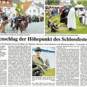 Pressebericht über das Mittelalterfest zu Romrod/Hessen 2009