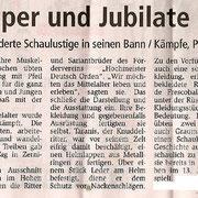 Regionalzeitung Gransee, Kommentar zum Ritterfest in Zernikow/Brandenburg, 13.06.2009