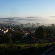 Mer de nuages sur la vallée de la Meuse