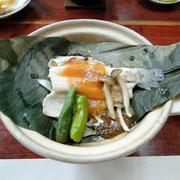 紅鱒朴葉鍋