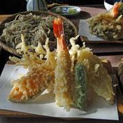 天ぷらもGood! 特にエビとウドがおいしかった