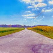 Impressionistische Landstraße