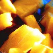 Ananasstückchen in Nahaufnahme