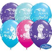 Balony z helem kraina lodu