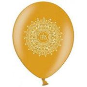 balon komunia złoty