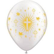 balon komunia biały