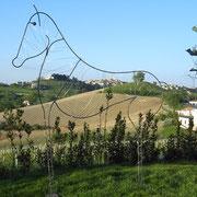 Monte Giberto attraverso il cavallo...