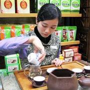天福茗茶でお茶を試飲。ものすごくフレンドリーなお姉さんに癒されました [2010/11/29]