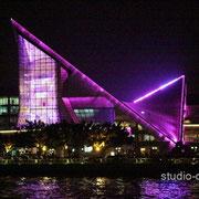 ライトアップされた星海音楽庁(コンサートホール) [2010/11/28]