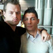 Leonardo DiCaprio with Saki / Cristiano Ronaldo