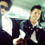 Lenny Kravitz with Saki / Cristiano Ronaldo