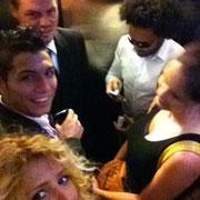 Leonardo DiCaprio, Lenny Krawitz, Angelina Jolie and Shakira with Saki / Cristiano Ronaldo